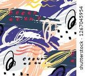 abstract pattern brush stroke... | Shutterstock .eps vector #1267045954