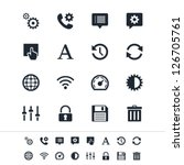 setting icons | Shutterstock .eps vector #126705761