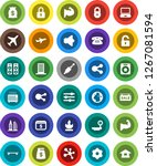 white solid icon set  dollar... | Shutterstock .eps vector #1267081594