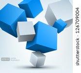 vector illustration of 3d cubes | Shutterstock .eps vector #126709004