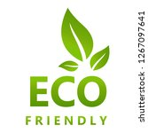 eco friendly vector illustration | Shutterstock .eps vector #1267097641