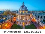 evening skyline view of oxford... | Shutterstock . vector #1267101691