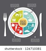 healthy food concept  vintage... | Shutterstock .eps vector #126710381