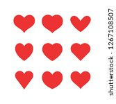 set of heart icons | Shutterstock .eps vector #1267108507