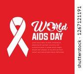 december 1. world aids day... | Shutterstock .eps vector #1267121191