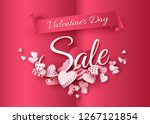 valentines day sale  red... | Shutterstock .eps vector #1267121854