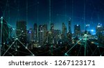 smart city with wireless... | Shutterstock . vector #1267123171