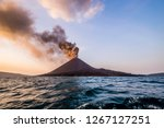 eruption of anak krakatau | Shutterstock . vector #1267127251