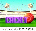 3d text cricket with cricket... | Shutterstock .eps vector #1267153831