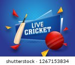 live cricket tournament poster... | Shutterstock .eps vector #1267153834