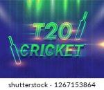 t20 cricket tournament template ... | Shutterstock .eps vector #1267153864