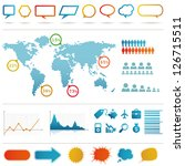 infographics set. | Shutterstock .eps vector #126715511