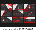 red and black combination... | Shutterstock .eps vector #1267158487