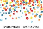 cute floral pattern with simple ... | Shutterstock .eps vector #1267159951