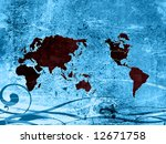 world map textures and... | Shutterstock . vector #12671758