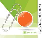 paper clip with bubble business ... | Shutterstock .eps vector #126718211