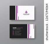 corporate business card... | Shutterstock .eps vector #1267194064