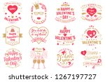 set of happy valentines day... | Shutterstock .eps vector #1267197727