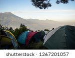 summer camp in mountains with... | Shutterstock . vector #1267201057
