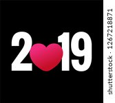 year 2019 typography concept... | Shutterstock .eps vector #1267218871