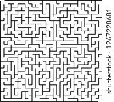 labyrinth of medium complexity. ... | Shutterstock .eps vector #1267228681