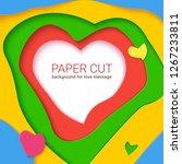 realistic multi layers heart ... | Shutterstock . vector #1267233811
