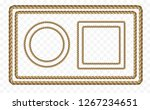 rope frame set isolated on... | Shutterstock .eps vector #1267234651