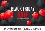 black friday sale inscription... | Shutterstock . vector #1267243411