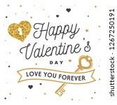 happy valentines day. stamp ... | Shutterstock .eps vector #1267250191