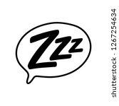 z z z text on text bubble.... | Shutterstock .eps vector #1267254634
