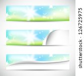 banners with natural colors... | Shutterstock .eps vector #126725975