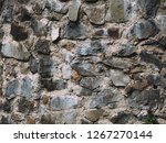 stone wall texture with cracks... | Shutterstock . vector #1267270144