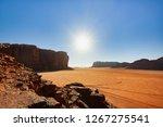 landscape of red desert wadi... | Shutterstock . vector #1267275541