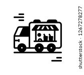 vector icon for food truck | Shutterstock .eps vector #1267278277