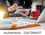 businessman or designer using...   Shutterstock . vector #1267280437
