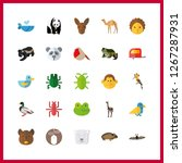 wildlife icon. frog and monkey... | Shutterstock .eps vector #1267287931