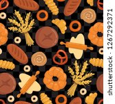 vector seamless pattern with... | Shutterstock .eps vector #1267292371