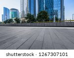 empty and modern square in... | Shutterstock . vector #1267307101