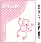 cute baby shower card vector... | Shutterstock .eps vector #126731555