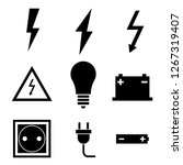 vector black electricity icon... | Shutterstock .eps vector #1267319407