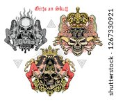 gothic sign with skull sexy... | Shutterstock .eps vector #1267330921