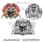 gothic sign with skull sexy... | Shutterstock .eps vector #1267330924