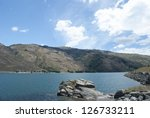 Scenic view of Clutha River, Clyde, South Island, New Zealand