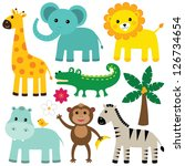 vector animals set | Shutterstock .eps vector #126734654