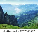 view of the river rhine valley... | Shutterstock . vector #1267348507
