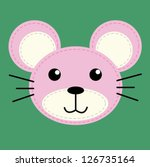 mouse   t shirt graphics   cute ... | Shutterstock .eps vector #126735164