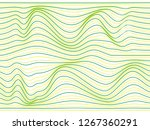 warped colorful stripes.yellow... | Shutterstock . vector #1267360291