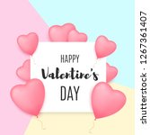 valentines day background with...   Shutterstock .eps vector #1267361407