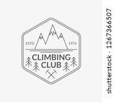 mountain badge. rock climbing...   Shutterstock . vector #1267366507