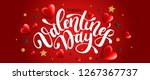 valentines day banner with... | Shutterstock .eps vector #1267367737